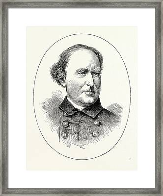 Commodore Farragut, He Was A Flag Officer Of The United Framed Print by American School