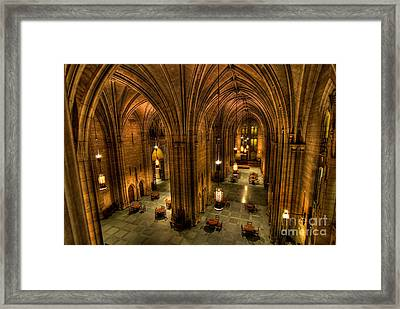 Commons Room Cathedral Of Learning University Of Pittsburgh Framed Print by Amy Cicconi