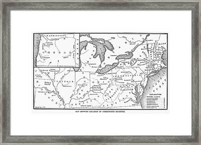 Communal Societies Map Framed Print
