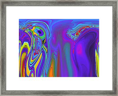 Communication Breaks Down Framed Print by Steve K