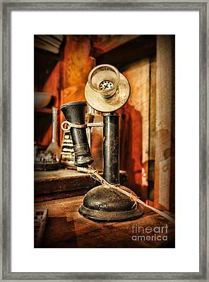 Communication - Candlestick Phone Framed Print