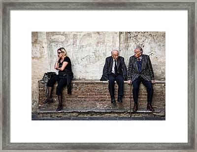 Communication Framed Print by Dave Bowman