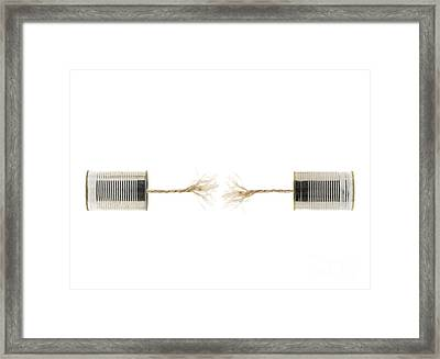 Communication Error Framed Print by Shawn Hempel