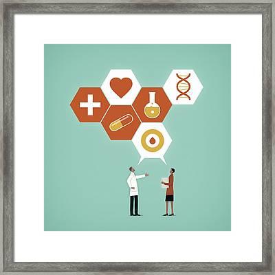 Communication In Healthcare Framed Print