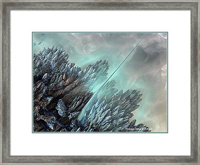 Framed Print featuring the digital art Communication Tower by Melissa Messick