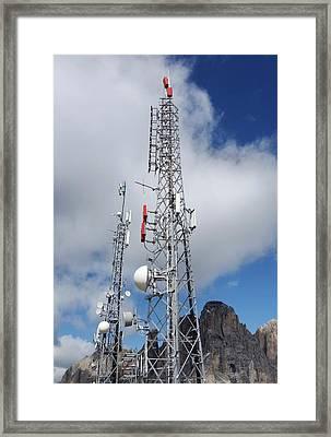 Communications Masts Framed Print
