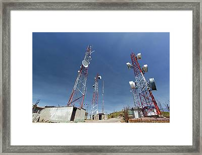 Communications Towers Framed Print by Dr Morley Read