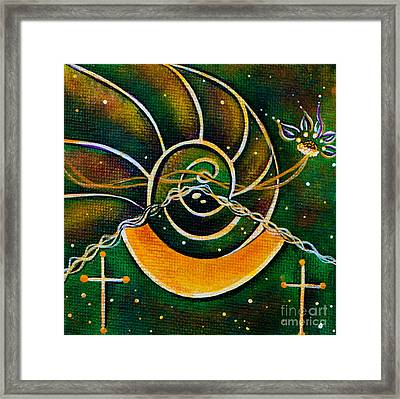 Framed Print featuring the painting Communicator Spirit Eye by Deborha Kerr