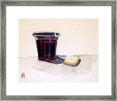Communion Framed Print by Katherine Miller