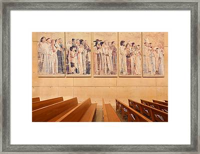 Framed Print featuring the photograph Communion Of Saints - Cathedral Of Our Lady Of The Angels Los Angeles California by Ram Vasudev