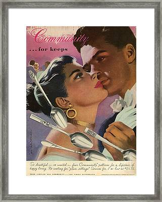 Community Cutlery  1952  1950s Usa Framed Print by The Advertising Archives