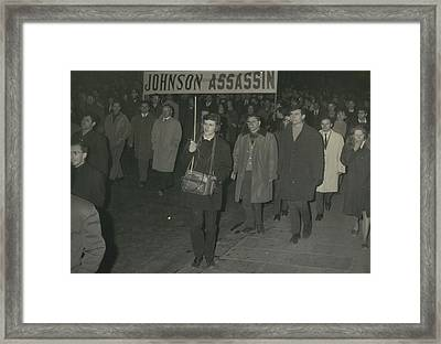 Communsts Stage Demcnstration Against War In Vietnam Framed Print by Retro Images Archive