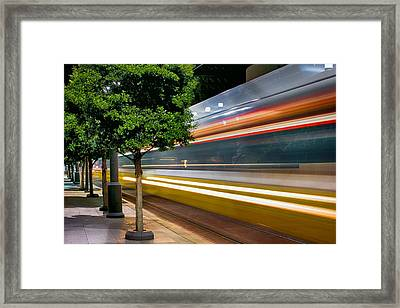 Dallas Commuter Train 052214 Framed Print