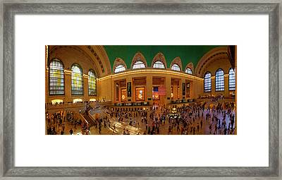 Commuters At A Railroad Station, Grand Framed Print
