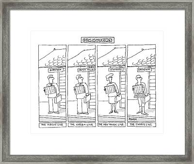 Commuters Framed Print by Jack Ziegler