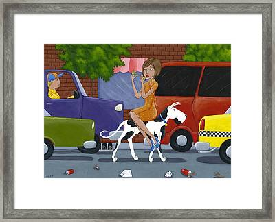 Commuting Framed Print by Christy Beckwith