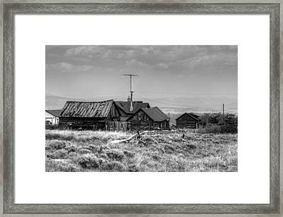 Framed Print featuring the photograph Como In Black And White by Lanita Williams