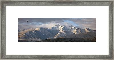 Framed Print featuring the photograph Como Peaks Montana by Joseph J Stevens