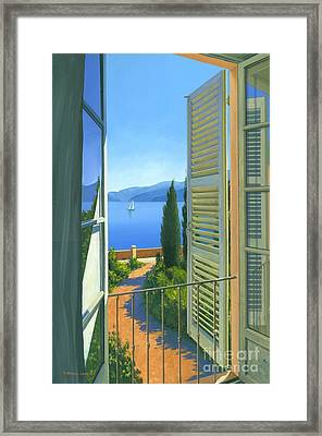 Como View Framed Print