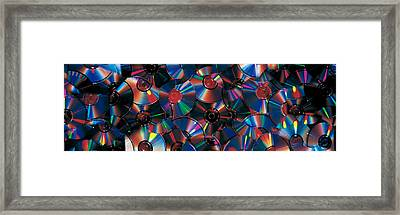 Compact Discs Framed Print by Panoramic Images