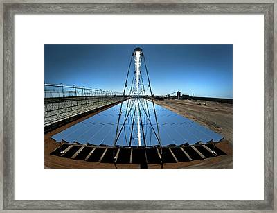 Compact Linear Fresnel Reflector Framed Print