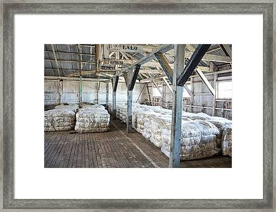 Compacted Sheep Fleeces In Storage Framed Print by Peter J. Raymond