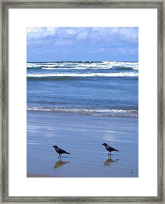 Companion Crows Framed Print