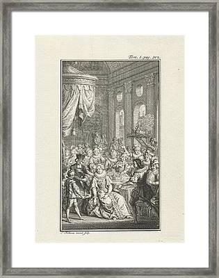 Company At A Banquet, Jacob Folkema Framed Print by Jacob Folkema