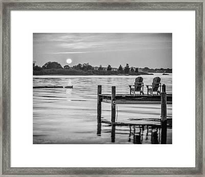 Company At Sunset Framed Print