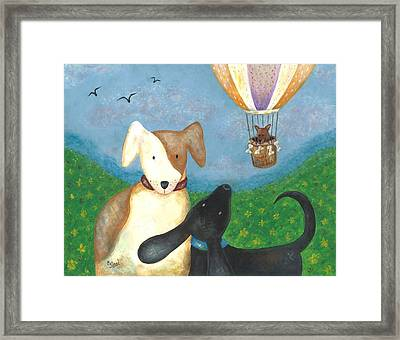 Company Coming Framed Print