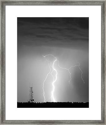 Comparing Data In Black And White Framed Print