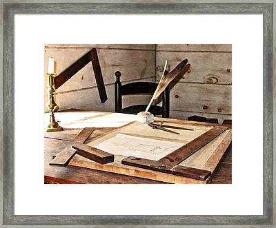 Compass And T-square Framed Print