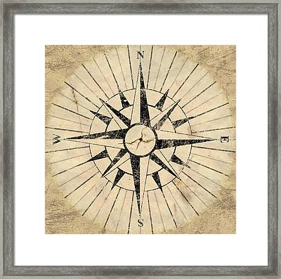 Compass Face Framed Print by Allan Swart