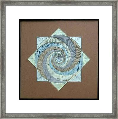 Framed Print featuring the mixed media Compass Headings by Ron Davidson
