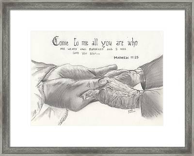 Compassion Framed Print by Viny  Mathew