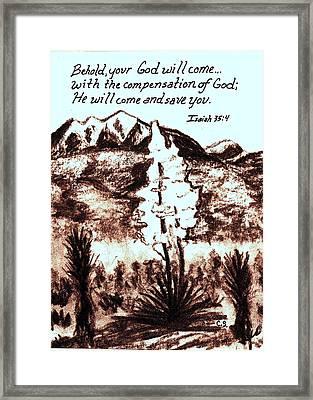 Compensation Framed Print by Catherine Saldana