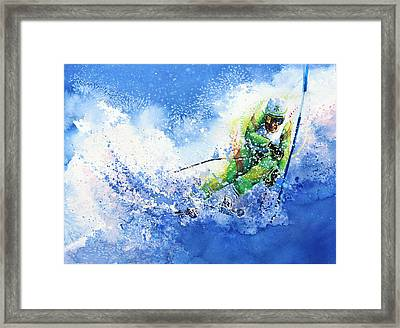 Competitive Edge Framed Print by Hanne Lore Koehler