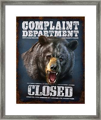 Complaint Department Framed Print by Jeff Wack
