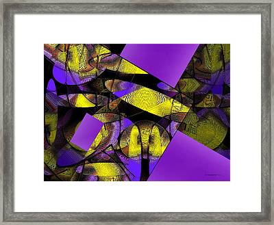Complementary Colors In Abstract Art Framed Print by Mario Perez