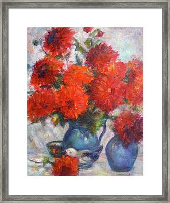 Complementary - Original Impressionist Painting - Still-life - Vibrant - Contemporary Framed Print