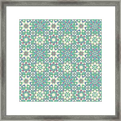 Complete Octal Tiling Framed Print by Cam Macfarlane