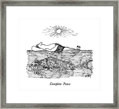 Complete Peace Framed Print by William Steig
