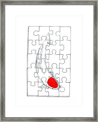 Completed Koi Tancho Jigsaw Framed Print by Gordon Lavender