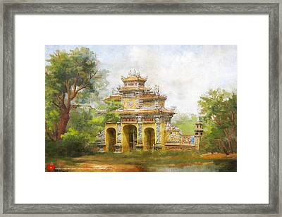 Complex Of Hue Monuments Framed Print