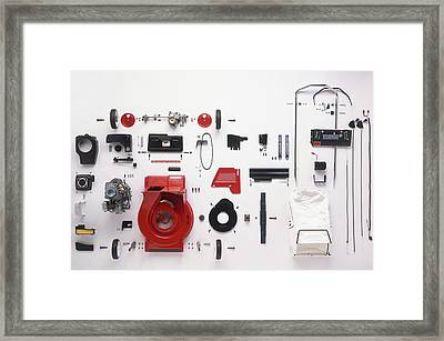 Component Parts Of Lawn Mower Framed Print
