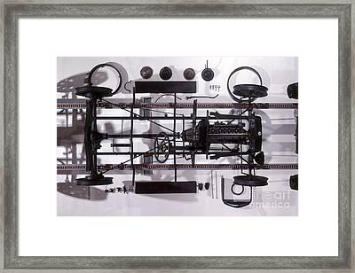 Components Of Ford Model T Framed Print by Dave Rudkin / Dorling Kindersley