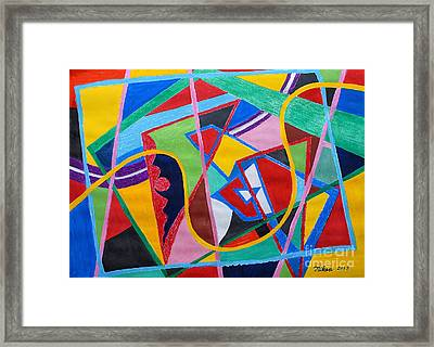 Compose An Opera By Taikan Framed Print by Taikan Nishimoto