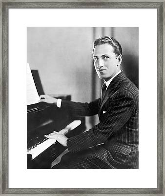 Composer George Gershwin Framed Print by Underwood Archives