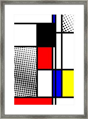 Composition 100 Framed Print