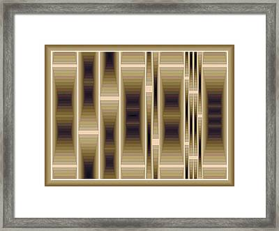 Composition 130 Framed Print by Terry Reynoldson